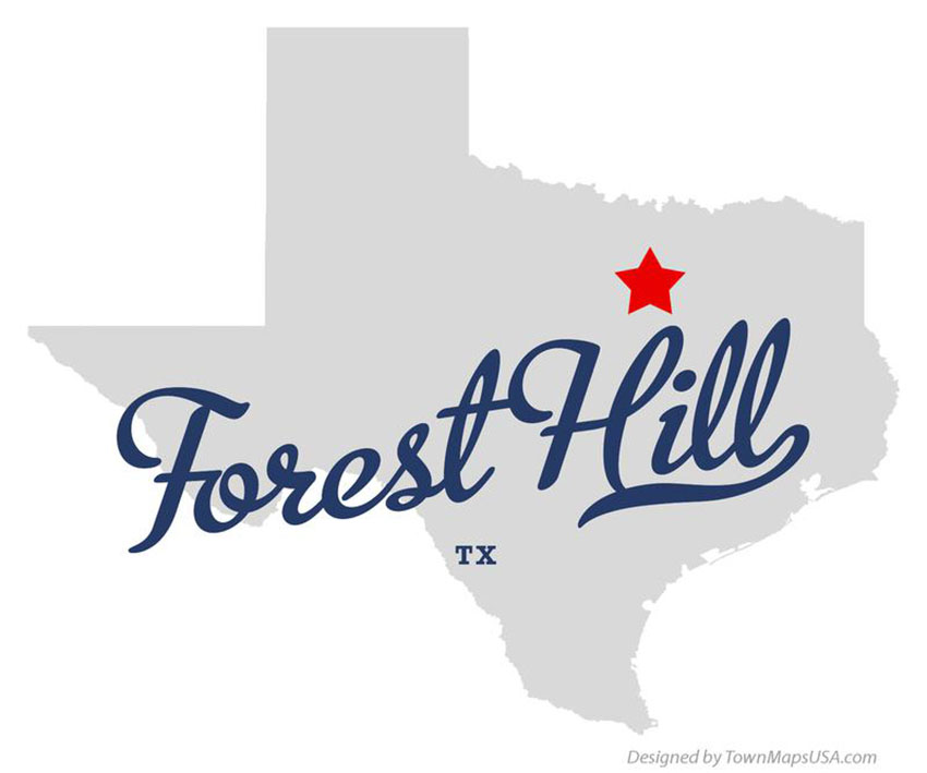 map of forest hill texas